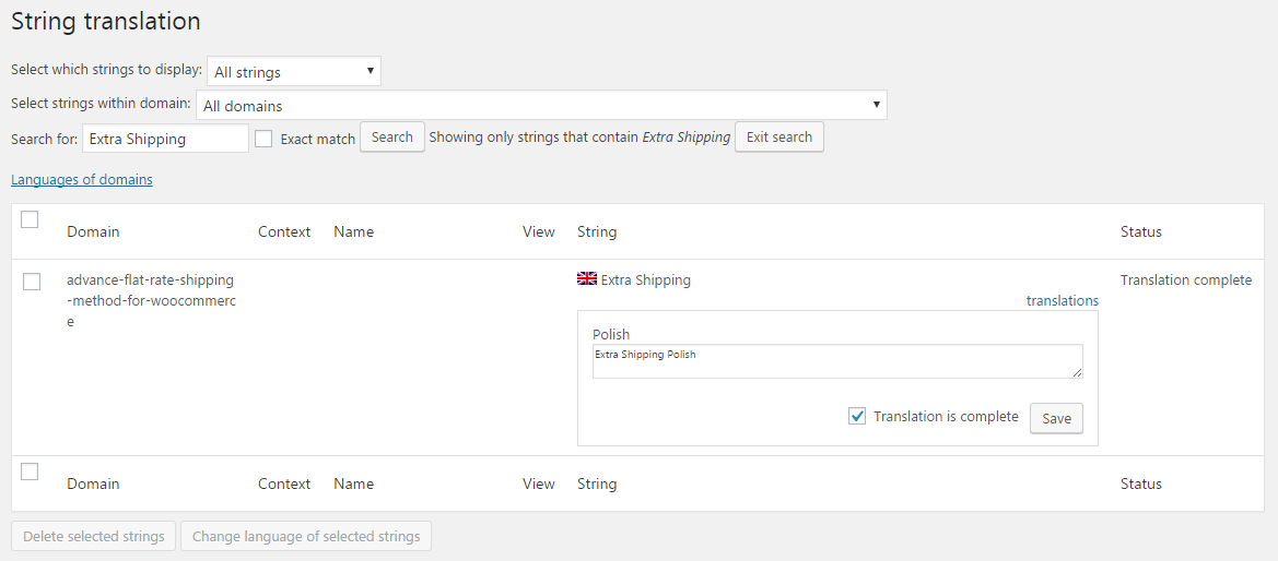 How to translate shipping method label in multiple languages with WPML