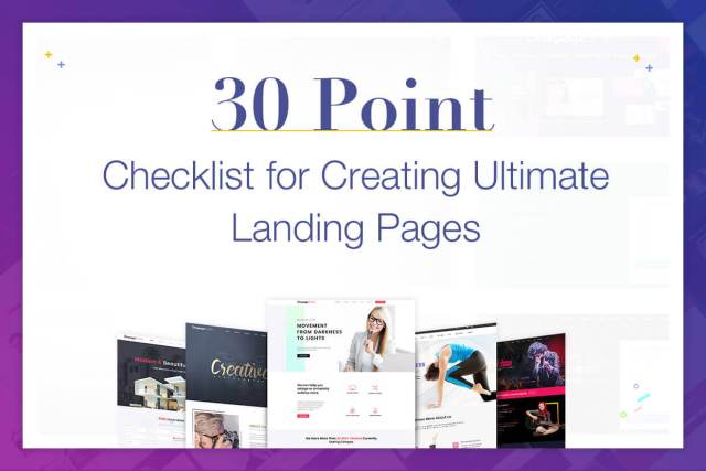 30 Point Checklist for Creating Ultimate Landing Pages