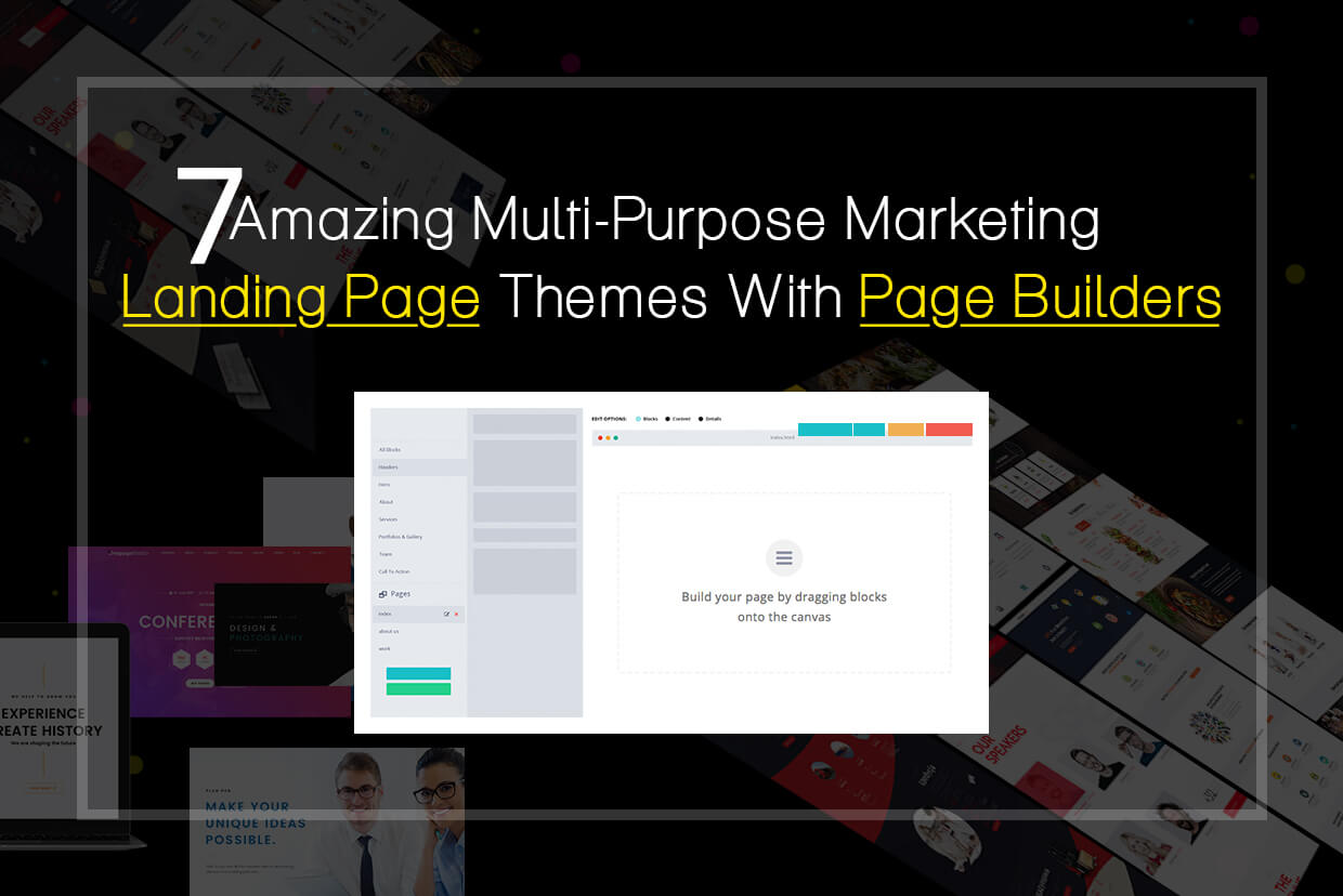 7 Amazing Multi-purpose Marketing Landing Page themes with Page Builders