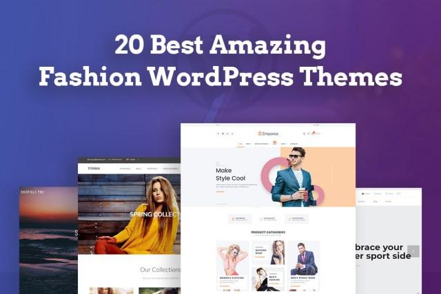 20 Best Amazing Fashion WordPress Themes