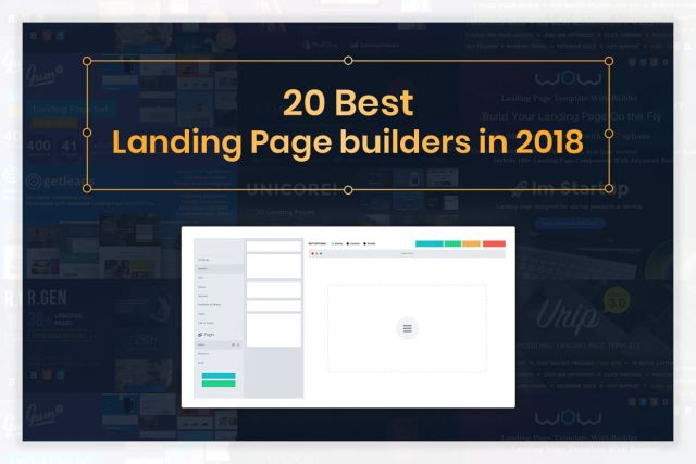 Top 20 Best Landing Page Builder 2018