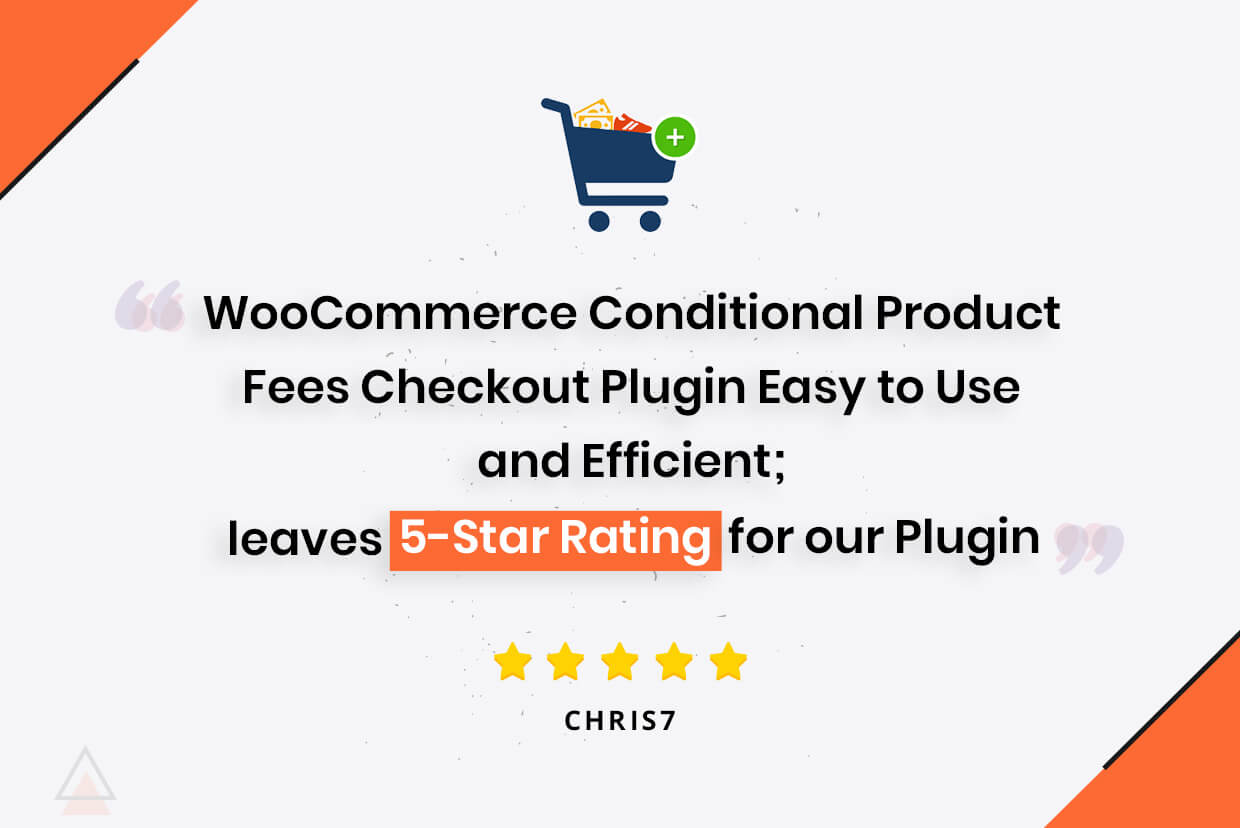 WooCommerce Conditional Product Fee plugin Gets 5-Star Review from a Client
