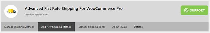 Flat rate plugin shipping