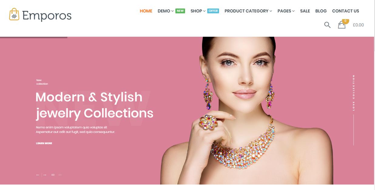 25 Best jewelry WordPress themes by dotstore2
