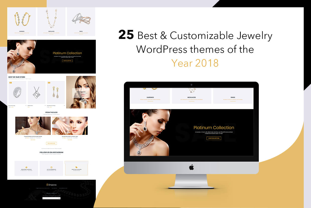 25 Best & Customizable Jewelry WordPress themes of the Year 2018
