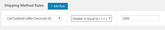 Create Flat rate plugin method On Bulk Purchase above a certain Amount