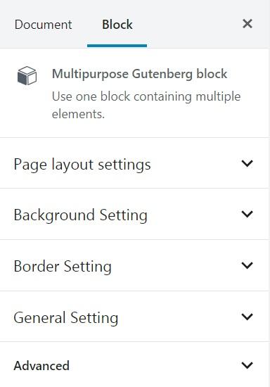 Multi-purpose Gutenberg Block Plugin, installed on a WordPress website