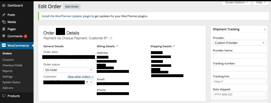 Shipment Tracking for Customers