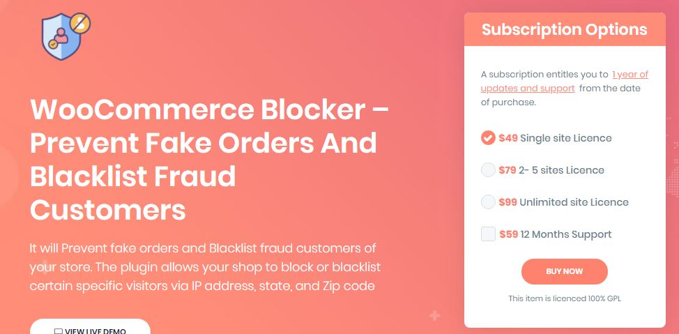 WooCommerce Blocker – Prevent Fake Orders And Blacklist Fraud Customers