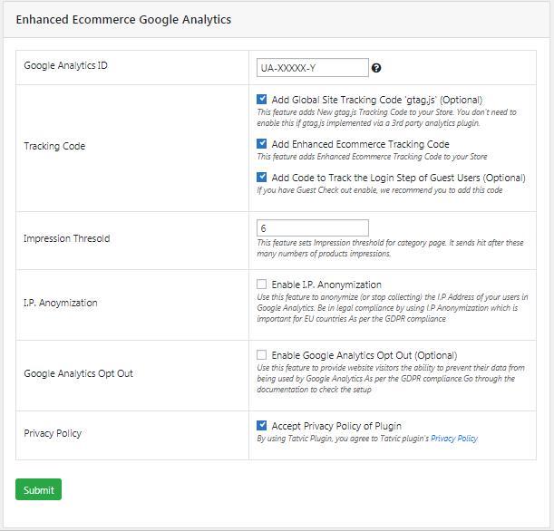 07 Enhanced Ecommerce Google Analytics Plugin for WooCommerce