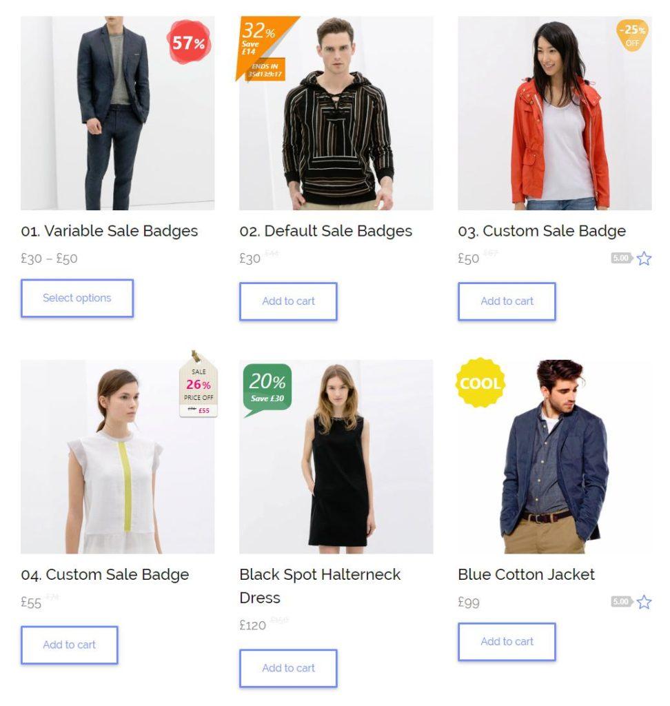 13 Improved Sale Badges for WooCommerce