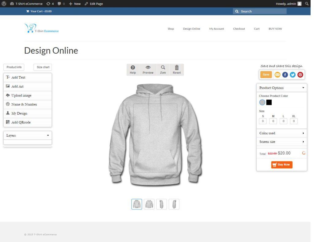 14 WooCommerce Custom Product Designer