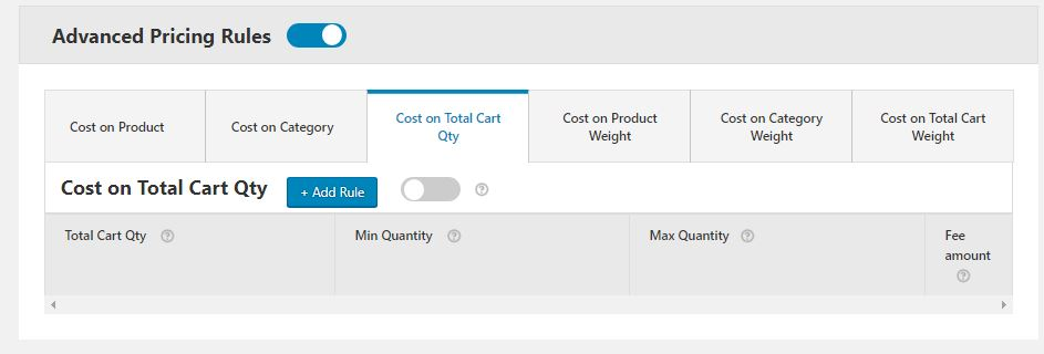 Adding Pricing Rules using WooCommerce conditional product fees for checkout Plugin