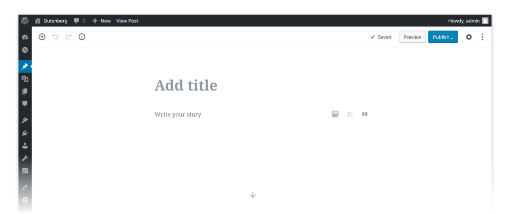 The New WordPress Editor - Gutenberg