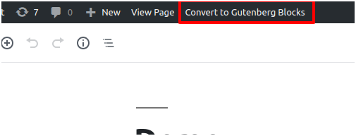 WordPress Admin – Edit Post Page with an option to Convert Classic Post to Gutenberg Blocks