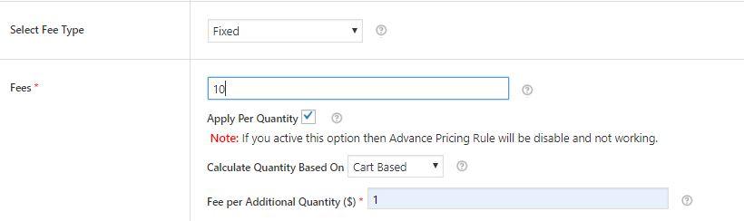 Fee - Apply Per Quantity - Cart Based
