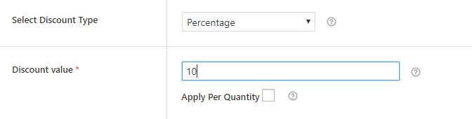 Example - Giving a discount of a variable amount, 10% on the cart, through your shop.