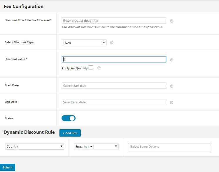 Fee Configuration and Dynamic Rule Creation for your Automatic Discounts