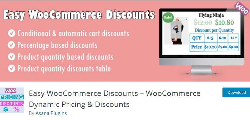 Plugin 10 - Easy WooCommerce Discounts – WooCommerce Dynamic Pricing & Discounts