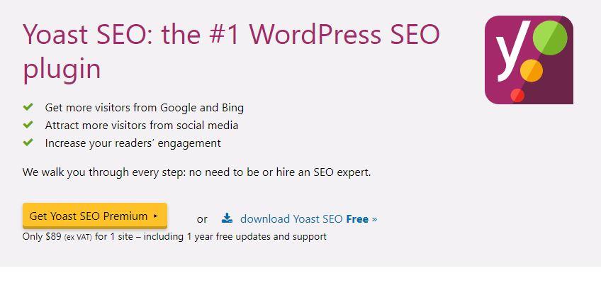 Figure 1 - Yoast SEO - List of Free WordPress Plugins to Improve Your Site