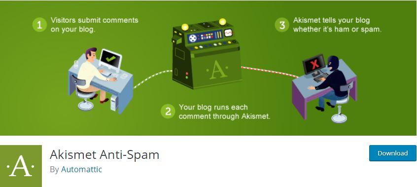 Figure 12 - Akismet anti-spam - List of Free WordPress Plugins to Improve Your Site