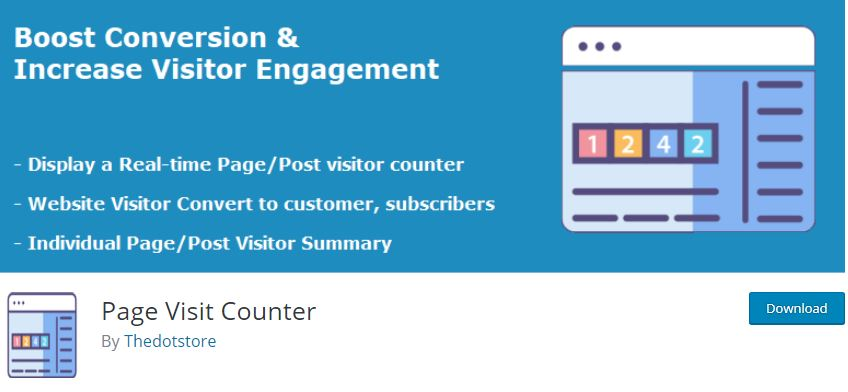 Figure 2 - Page Visit Counter - List of Free WordPress Plugins to Improve Your Site
