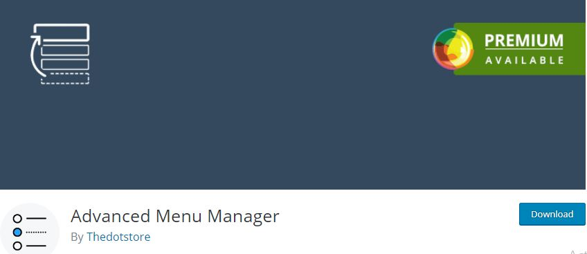 Figure 8 - Advanced Menu Manager for WordPress - List of Free WordPress Plugins to Improve Your Site