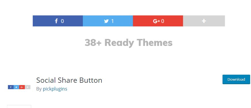 Figure 9 - Social Share Button - List of Free WordPress Plugins to Improve Your Site
