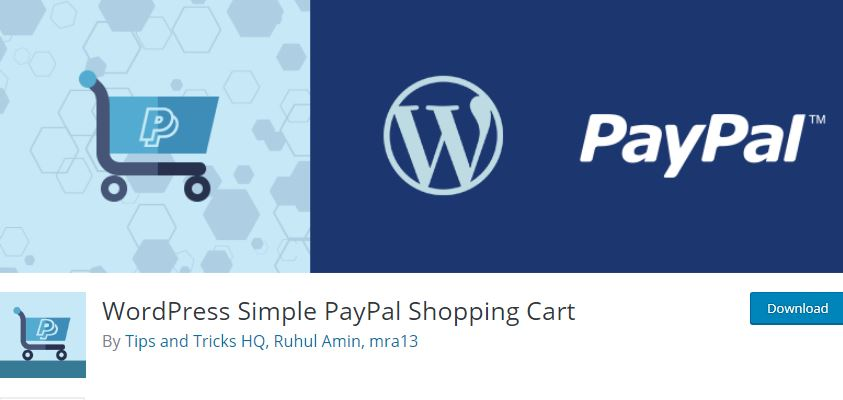 Figure 5 - WordPress Simple PayPal Shopping Cart - The list of best WP eCommerce Plugins & Shopping Cart Solutions