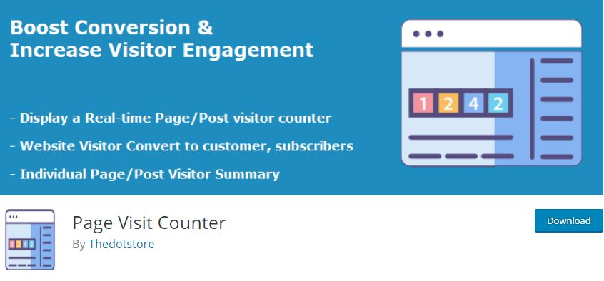 Figure 8 - Page Visit Counter - The list of best WP eCommerce Plugins & Shopping Cart Solutions