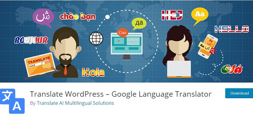 Figure 2 – Google Language Translator Plugin [List of Top WP Translation Plugins]