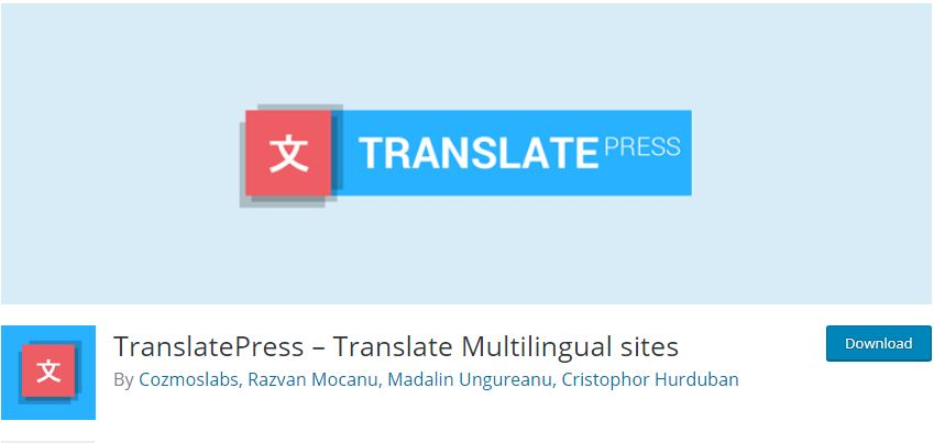 Figure 4 - TranslatePress Plugin [List of Top WP Translation Plugins]