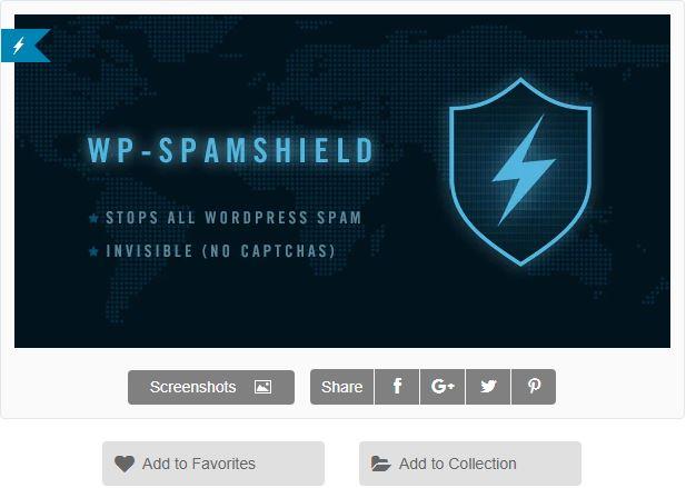 Figure 4 - WP-SpamShield AntiSpam Plugin - List of Top 6 WordPress Anti-Spam Plugins