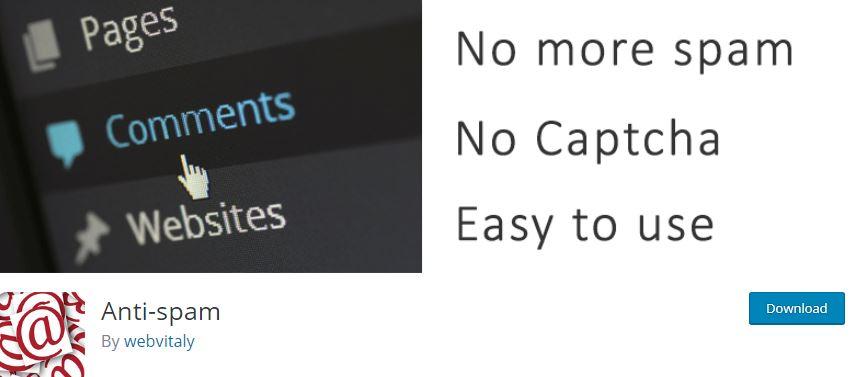 Figure 6 - Anti-Spam Plugin - List of Top 6 WordPress Anti-Spam Plugins