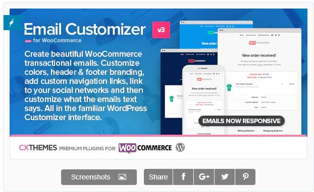 Figure 6 - Email Customizer for WooCommerce by cxThemes - List of 10 Best Email Customizer Plugins (WooCommerce)