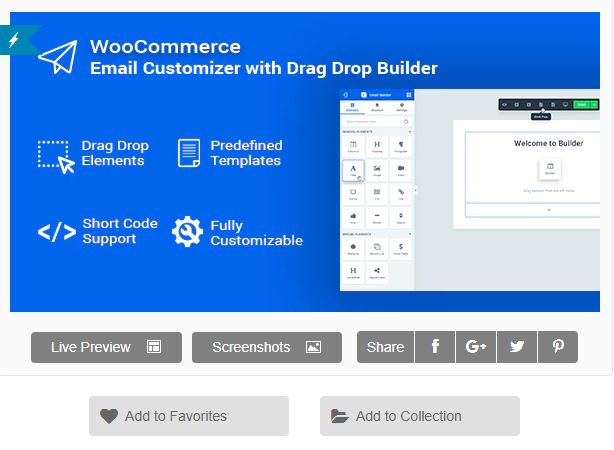 Figure 8 - Woomail - The WooEmail Customizer - List of 10 Best Email Customizer Plugins (WooCommerce)