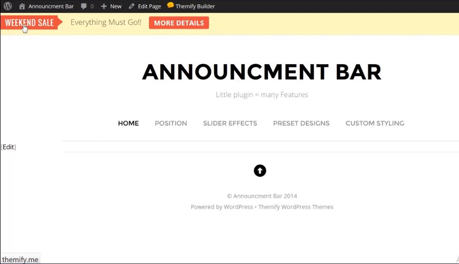 Figure 8 - Announcement Bar - List of the top 8 WordPress Notification Bar Plugins