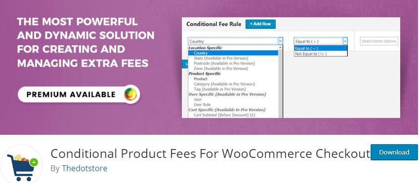 Figure 10‑1 - Top WooCommerce Product Fee Plugins - Conditional Product Fees for WooCommerce Checkout