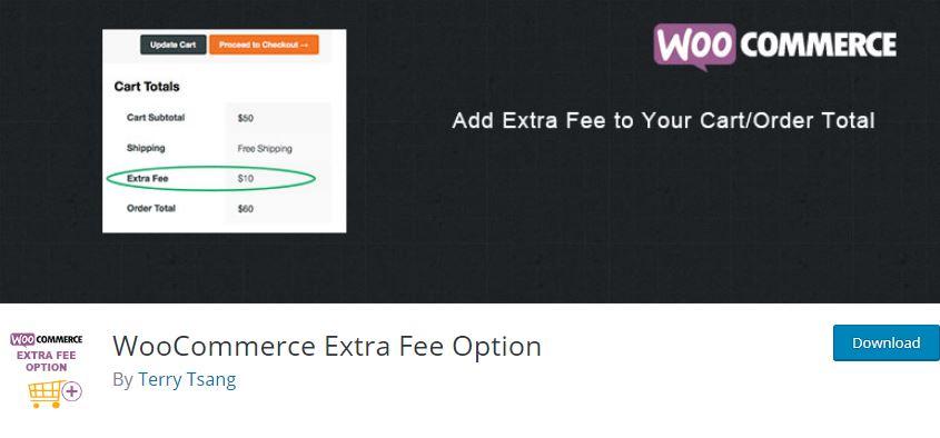 Figure 10‑4 - Top WooCommerce Product Fee Plugins - WooCommerce Extra Fee Option