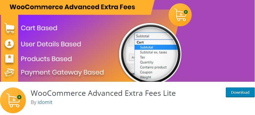 Figure 10‑5 - Top WooCommerce Product Fee Plugins - WooCommerce Advanced Extra Fees Lite