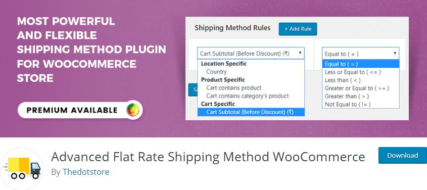 Figure 1‑1 - Top Shipping Plugins - 1 - Advanced Flat Rate Shipping Method for WooCommerce Plugin