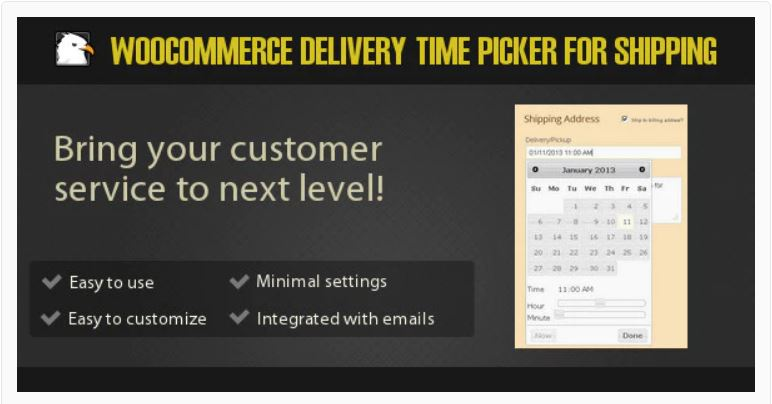 Figure 1‑6 - Top Shipping Plugins - 6 - WooCommerce Delivery Time Picker for Shipping