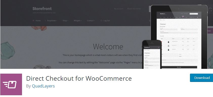 Figure 2‑2 - Top 9 Plugins for WooCommerce Checkout - 2 - WooCommerce Direct Checkout Plugin