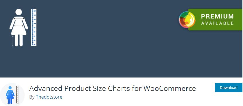 Figure 2‑5 - Top 9 Plugins for WooCommerce Checkout - 5 - WooCommerce Advanced Product Size Charts Plugin
