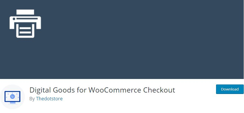 2‑6 - Top 9 Plugins for WooCommerce Checkout - 6 - WooCommerce Checkout for Digital Goods