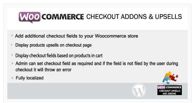 2‑7 - Top 9 Plugins for WooCommerce Checkout - 7 - Woocommerce Checkout Addons & Upsells Plugin