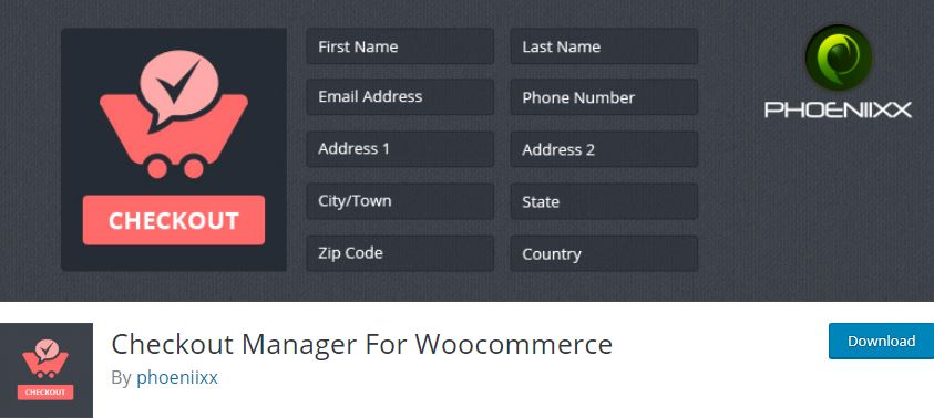 2‑9 - Top 9 Plugins for WooCommerce Checkout - 9 - Checkout Manager for Woocommerce Plugin