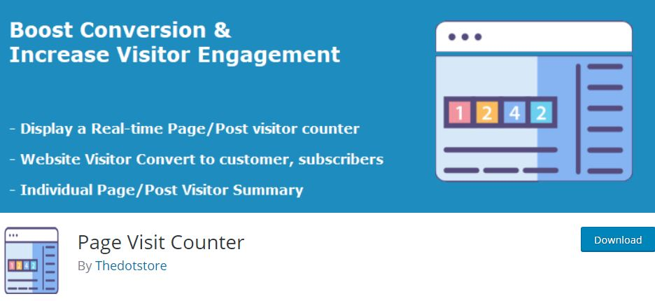 3‑1 - Top 6 Plugins for WooCommerce Report or Analytics - 1 - Page Visit Counter Plugin