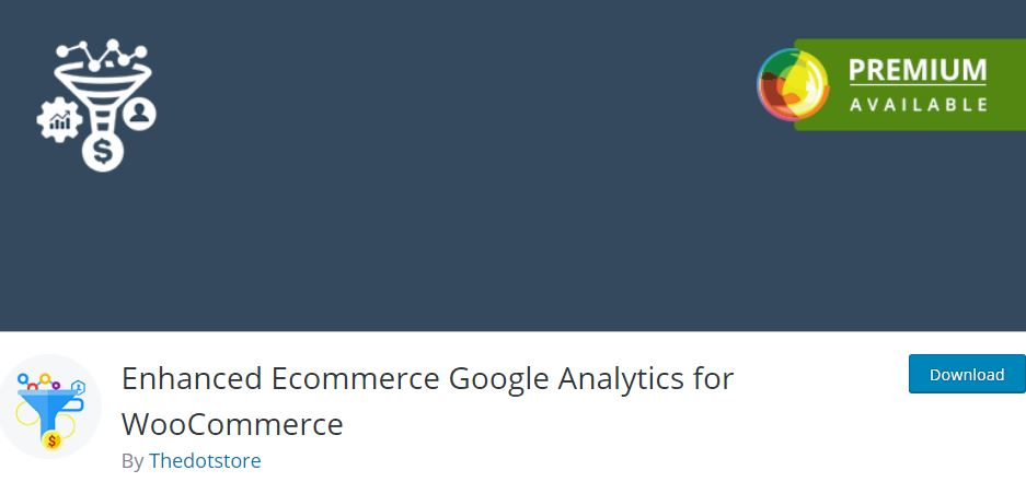3‑2 - Top 6 Plugins for WooCommerce Report or Analytics - 2 - WooCommerce Enhanced Ecommerce Analytics Integration with Conversion Tracking Plugin
