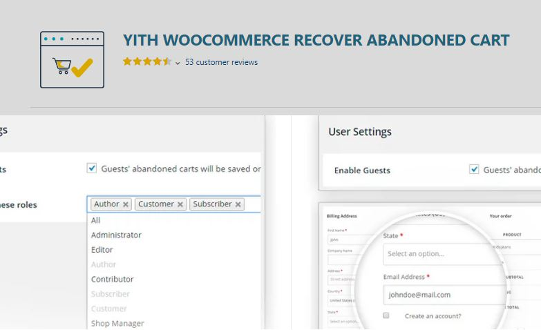 4‑3 - Top Six Cart Abandonment Plugin - 3 - YITH WOOCOMMERCE RECOVER ABANDONED CART Plugin